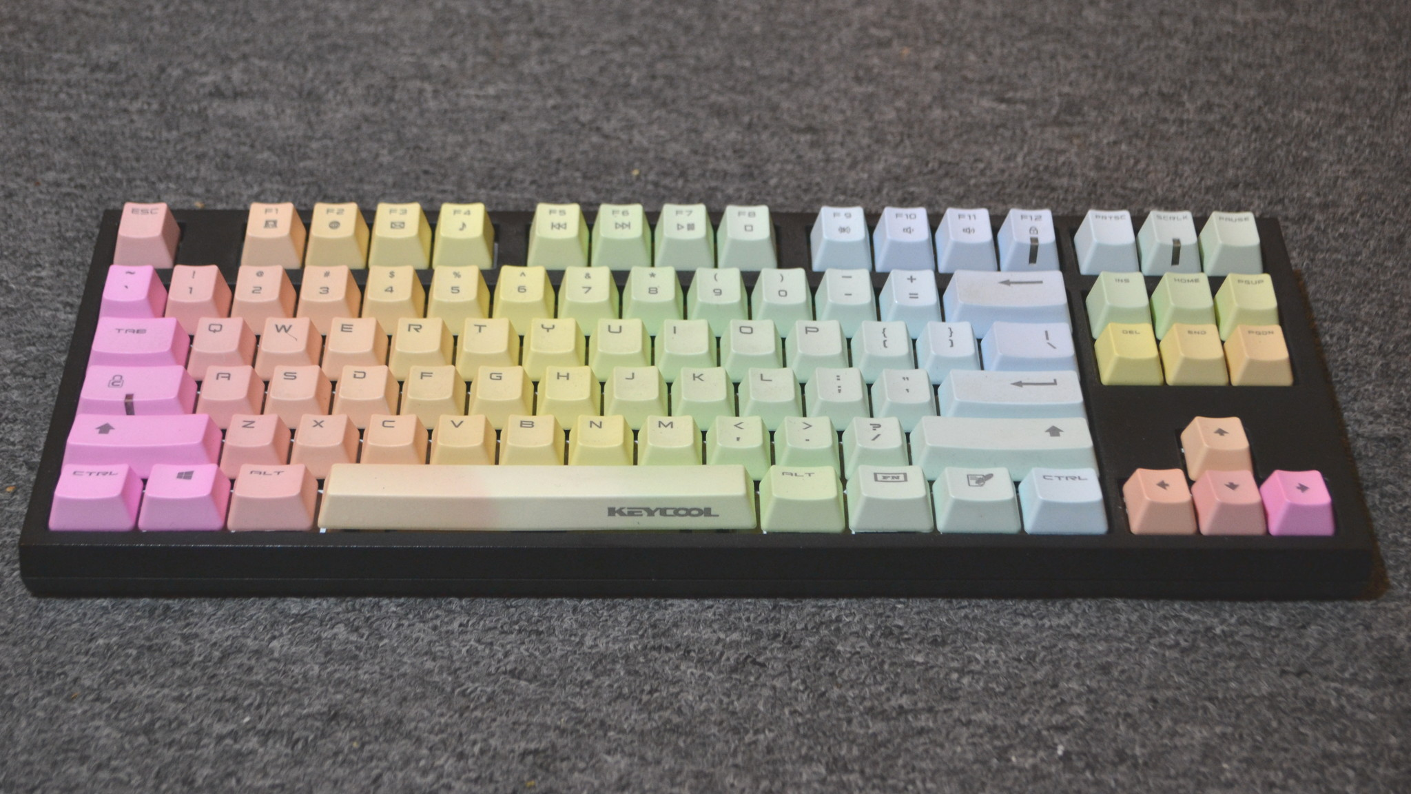 CODE keyboard with Keycool rainbow keycaps