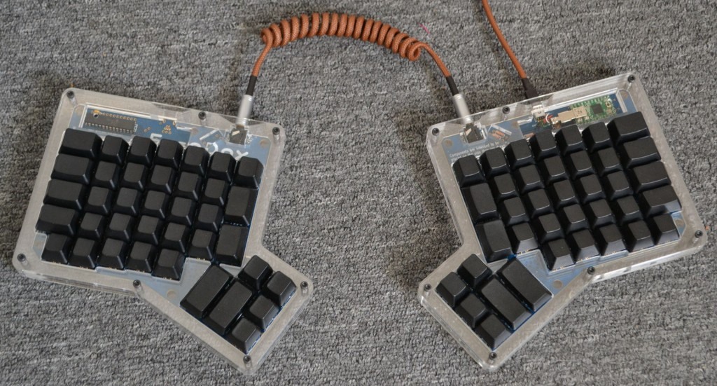 The finished ErgoDox